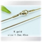 Ocelovy retizek zlate barvy - 40 cm