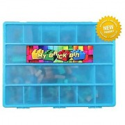 LEGO Bricks Compatible Storage Case With Carrying Handle - My Brick Bin Stores Hundreds Of LEGO Bricks.- Perfect Lego B