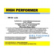 High Performer 5W-30 Longlife Mercedes+BMW 20 Litre Canister