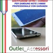 Sostituzione Vetro e Cornice per Samsung Note 3 Note3 N9005 Cambio Cornice Telaio Frame Vetro Rotto