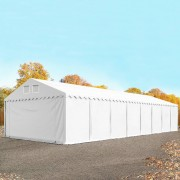 Intent24 5x16m XXL hangar, entrepôt, PVC, H. 2,6m, blanc
