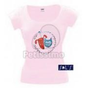Tricou Petissimo Original de femei - roz deschis XS-S