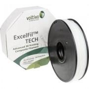 3D nyomtató szál Voltivo ExcelFil TECH EF-TEC-175-FLEXN1 TPE műanyag 1.75 mm Fehér 500 g (1411115)