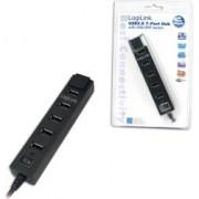 Hub USB Logilink UA0124 cu 7 porturi si sursa de alimentare
