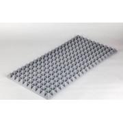 Pyramidenschaumstoff aus Basotect 100cm x 50cm x 5cm, hellgrau