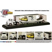 M2 Machines Auto Haulers 1956 Ford Coe & 1965 Ford Mustang 2+2 Fastback 289 (14 13) M2 Machines