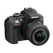 """Nikon D3300 Kit Fotocamera Reflex Digitale con Nikkor 18/55 VR II New F, 24.2 Megapixel, LCD 3"""", SD 8 GB 200x Premium Lexar, Nero [Nital card: 4 anni di garanzia]"""