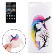 Sexy Girl Pattern TPU Protective Case for Huawei P8