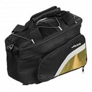 ACACIA extensible al aire libre bici de ciclo del Pannier Bolsa - Negro + Amarillo