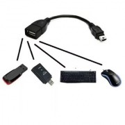 Onlineshoppee Micro USB OTG Cable - Attach Pendrive Mouse Keyboard To Mobiles/Tablets - Black