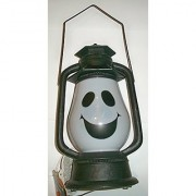 15 Sound Activated LED Musical Light Up Ghost Lantern - Spooky Halloween Sounds