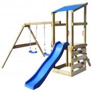 vidaXL Playhouse Set with Ladder, Slide and Swings 290x260x235 cm Wood