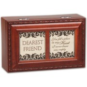 Cottage Garden Dearest Friend Woodgrain Petite Music Box / Jewelry Box Plays That�S What Friends A