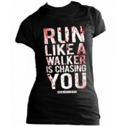 Tricou dame - The Walking Dead - Run Like a Walker is Chasing You