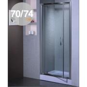 Porta doccia battente in cristallo 6 mm mod Aida cm. 70/74