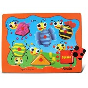 Puzzled Insect Shapes Wooden Peg Puzzle