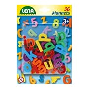 Lena 65746 - Magnetic Lower Case Letters, Pack of 36, 3 cm