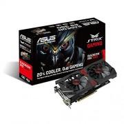 Asus Radeon STRIX-R9380-DC2OC-4GD5-Gaming Scheda Video, Nero/Rosso