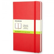 Moleskine Classic Red Notebook, Plain Large