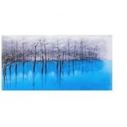 Cuadro LAGO AZUL 70x140x3,5 cm, pintado a mano al óleo