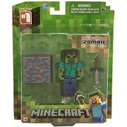 Zoofy International 16509 2.75 Minecraft Core Zombie Action Figure With Accessory