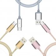 Cablu Magnetic MICRO USB Android (Argintiu, 1m)