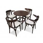 Set Masa Bistro cu 4 scaune lemn curbat