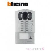 BTICINO Platine 1 bouton-poussoir vidéo couleur - Saillie - BTICINO 342991