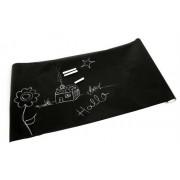 Lavagna adesiva nera con gessetti colorati 200 x 45 cm da parete removibile bimbo