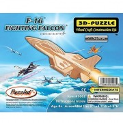 Puzzled F-16 Fighting Falcon Wooden 3D Puzzle Construction Kit