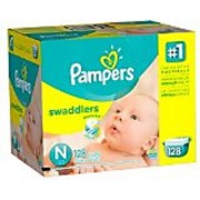 Pampers Swaddlers Diapers Size N Giant Pack 128 Count (Packaging May Vary)