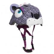 Casca bicicleta copii Purple Leopard cu LED