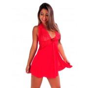 Camisola Transparente Vermelha Curta Frente Única Yasmim - SS049