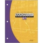 Saxon Math Homeschool 8/7 Tests and Worksheets by Stephen Hake