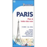 Paris Plan & Index des Rues Map by Michelin