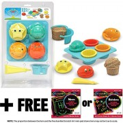 Seaside Sidekicks Sand Cupcake Set: Sunny Patch Beach Play Series + Free Melissa & Doug Scratch Art Mini Pad Bundle [64316]