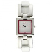 Titan Quartz White Square Women Watch 2484SL02