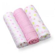 Set 3 scutece, roz, 70x70cm