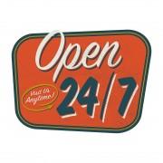 Wandafbeelding Open 24/7, Pro Art