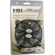 Ventilator Inter-Tech CobaNitrox Extended R-120-G 120mm Grey LED