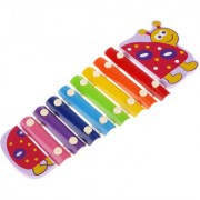 Magideal 8 Tones Knock Piano Musical Xylophone Baby Play Learn Wooden Toy Gift Turtle