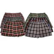 6 Men's Big & Tall USA Classic Design Plaid Boxer Shorts Underwear (4XL)