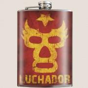 Luchador whiskey flask