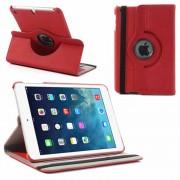 Bolsa Rotativa em Pele para iPad Mini 2, iPad Mini 3 - Vermelho