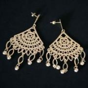 Earring Semi Jewelry Gold Plated