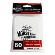 Sleeves - Monster Protector Sleeves - Smaller Size Gloss Finish w/Logo - White (Fits Yugioh and Other Smaller Sized Gaming Cards)
