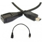USB 2.0 redukce samec mini B - samice micro B