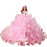 Creation® Barbie ropa de la muñeca Vestidos de lujo encantador Vestido de bola del partido de tarde de la boda 17,5 pulgadas (Incluido Muñecas y accesorios) - Rosado