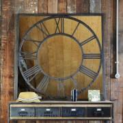 Maisons du monde Specchio nero in metallo H 119 cm AQUILAIN