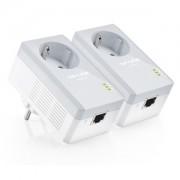 Kit 2 Adaptoare Powerline AV500 cu priza incorporata TP-Link TL-PA4010PKIT